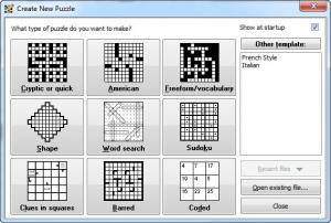Enlarge Crossword  Compiler Screenshot