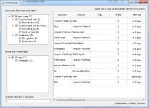 Enlarge Mnemosyne Screenshot