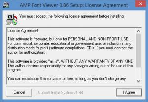 Enlarge AMP Font  Viewer Screenshot
