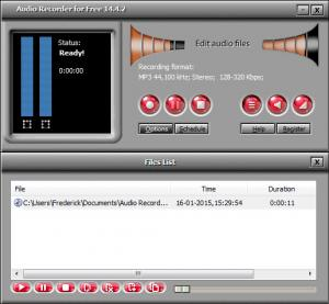 Enlarge Audio Recorder for Free Screenshot
