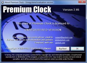 Enlarge Premium Clock Screenshot