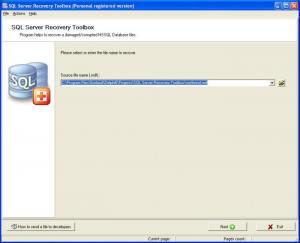 Утилита SQL Server Recovery Toolbox предназначена для восстановления