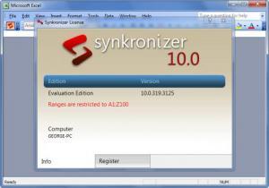 Enlarge Synkronizer Screenshot