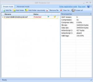 Enlarge SWF Protector Screenshot