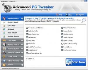 Enlarge Advanced PC Tweaker Screenshot