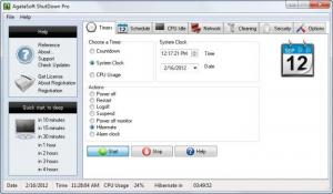 Enlarge AgataSoft ShutDown Pro Screenshot