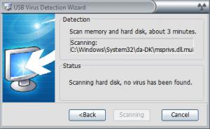 Enlarge USB Virus Scan Screenshot