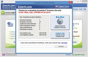 Enlarge ZoneAlarm Extreme Security Screenshot