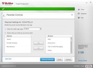 Enlarge McAfee Total Protection Screenshot