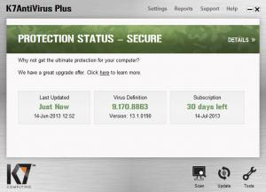 Enlarge K7 AntiVirus Screenshot