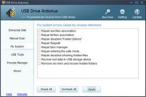 Enlarge USB Drive AntiVirus Screenshot