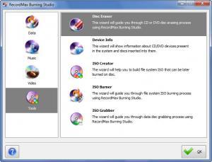Enlarge RecordMax Burning Studio Screenshot