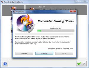 Enlarge RecordMax Burning Studio Screenshot