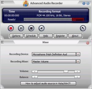Enlarge Advanced Audio Recorder Screenshot