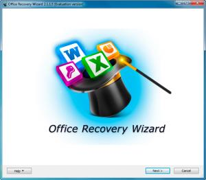 Enlarge Office Recovery Wizard Screenshot