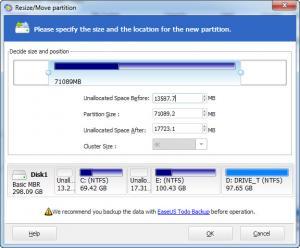 Enlarge EASEUS Partition Master Professional Screenshot