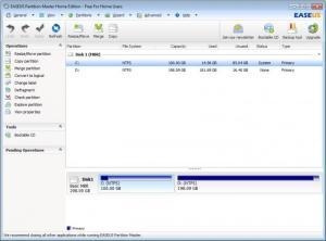Enlarge EASEUS Partition Master Home Edition Screenshot