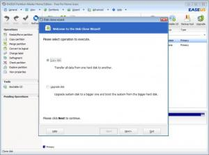 Enlarge EASEUS Partition Master Home Edition Screenshot