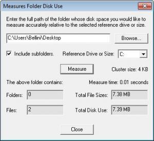 Enlarge DiskSizes Screenshot