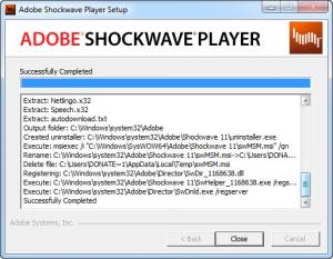 Enlarge Adobe Shockwave Player Screenshot