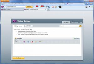 Enlarge Yahoo! Toolbar Screenshot
