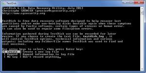 Enlarge TestDisk & PhotoRec Screenshot