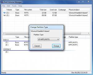 Enlarge Ext2Fsd Screenshot