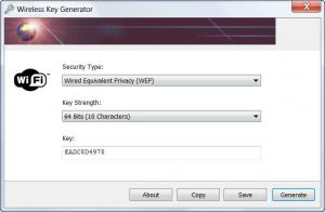 Enlarge Wireless Key Generator Screenshot