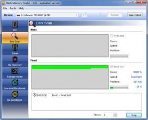Enlarge Flash Memory Toolkit Screenshot
