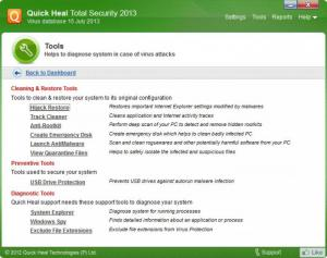 Enlarge Quick Heal Total Security Screenshot