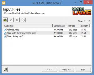 Enlarge winLAME Screenshot