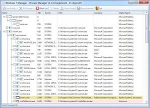 Enlarge Windows 7 Manager Screenshot