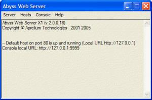 Enlarge Abyss Web Server X1 Screenshot