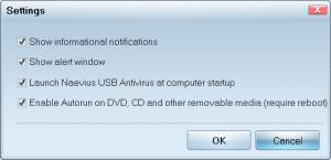 Enlarge Naevius USB Antivirus Screenshot