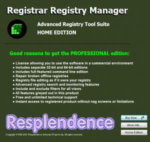 Enlarge Registrar Registry Manager Screenshot