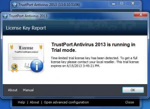 Enlarge Trustport Antivirus Screenshot
