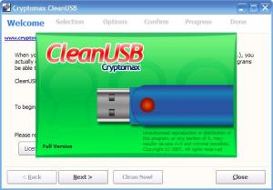 Enlarge CleanUSB Screenshot