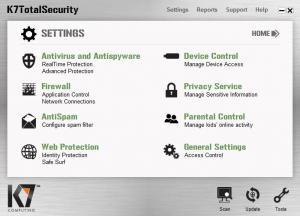 Enlarge K7 TotalSecurity Screenshot