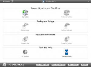 Enlarge PC Disk Clone X Free Screenshot