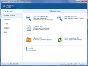 Enlarge Outpost Antivirus Pro Screenshot