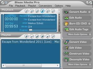 Enlarge Blaze Media Pro Screenshot