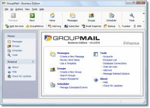 Enlarge GroupMail Free Edition Screenshot