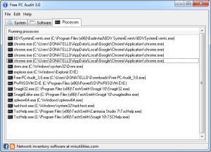 Enlarge Free PC Audit Screenshot