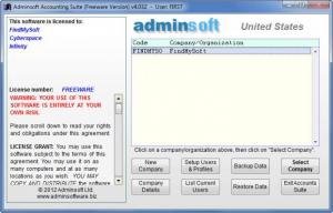 Enlarge Adminsoft Accounts Screenshot
