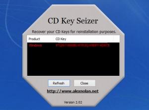 Enlarge CD Key Seizer Screenshot