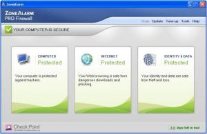 Enlarge ZoneAlarm Pro Firewall Screenshot