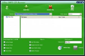 Enlarge Ultra MP3 CD Burner Screenshot