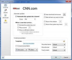 Enlarge Awasu Personal Edition Screenshot