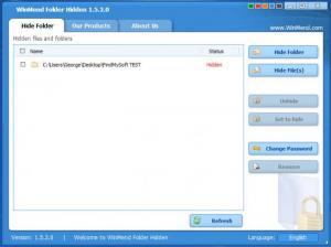 Enlarge WinMend Folder Hidden Screenshot
