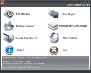 Enlarge UndeleteMyFiles Pro Screenshot